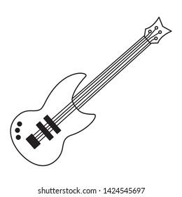 eletric guitar music instrument on white background vector illustration