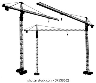 Elevating Construction Crane Vector 03
