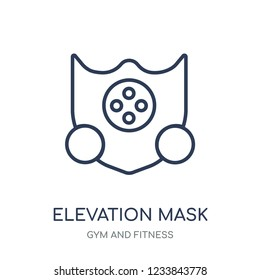 Elevation mask icon. Elevation mask linear symbol design from Gym and Fitness collection. Simple outline element vector illustration on white background