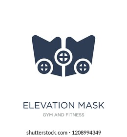 Elevation mask icon. Trendy flat vector Elevation mask icon on white background from Gym and fitness collection, vector illustration can be use for web and mobile, eps10