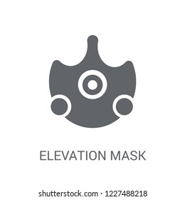 Elevation mask icon. Trendy Elevation mask logo concept on white background from Gym and Fitness collection. Suitable for use on web apps, mobile apps and print media.