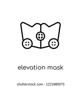 Elevation mask icon. Trendy modern flat linear vector Elevation mask icon on white background from thin line Gym and fitness collection, editable outline stroke vector illustration