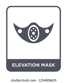 elevation mask icon vector on white background, elevation mask trendy filled icons from Gym and fitness collection, elevation mask simple element illustration