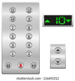 elevator buttons panel vector illustration isolated on white background