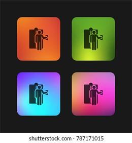 Elevator four color gradient app icon design