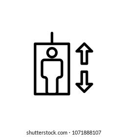 elevator icon. Element of minimalistic icons for mobile concept and web apps. Thin line icon for website design and development, app development on white background