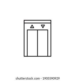 elevator icon outline style design. elevator vector illustration. isolated on white background