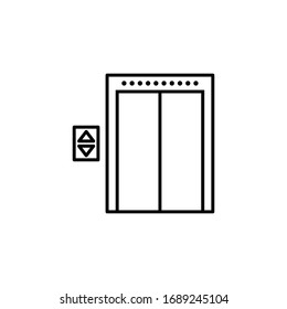 elevator icon vector sign symbol isolated