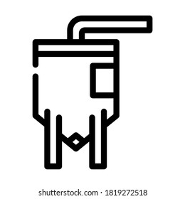 elevator industry production building line icon vector. elevator industry production building sign. isolated contour symbol black illustration