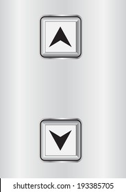 elevator or lift buttons vector illustrations
