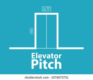 Elevator pitch concept. Business clipart