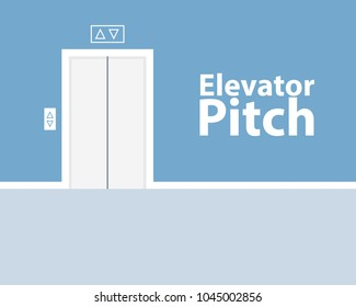 Elevator pitch concept. Vector clipart image