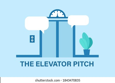 Elevator pitch design. Clipart image.