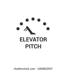 Elevator Pitch Modern Simple Vector Icon