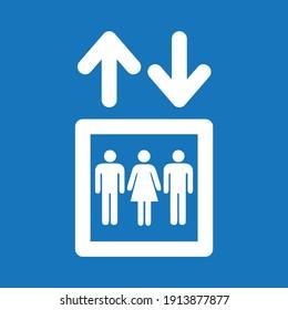 elevator sing vector symbol icon men women up dow