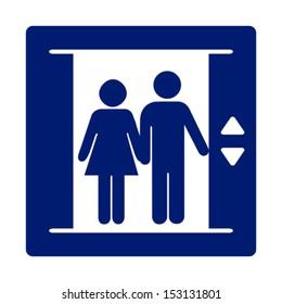 Elevator vector sign