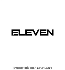Eleven logotype, eleven hidden space, 11 negative space, eleven icon template typography, lettering 11 negative space