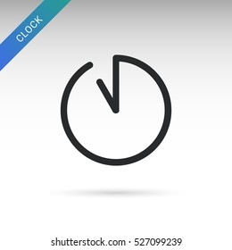 eleven o'clock. Clock Graphics, Clock Icon with hour and minute pointers.
