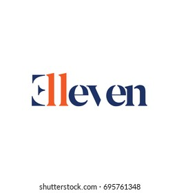 Eleven Type Logo Design Symbol