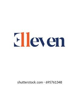 Eleven Type Logo Symbol