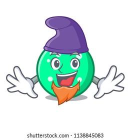 Elf circle character cartoon style
