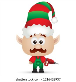 Elf Cute cartoon Christmas Character Isolated Vector Illustration