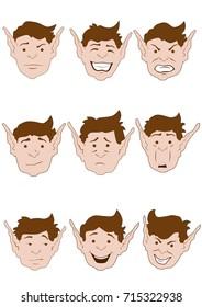 Elf Facial Expressions