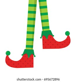 Elf feet vector clip art