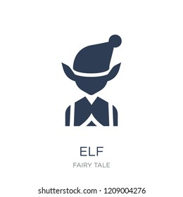 Elf icon. Trendy flat vector Elf icon on white background from Fairy Tale collection, vector illustration can be use for web and mobile, eps10