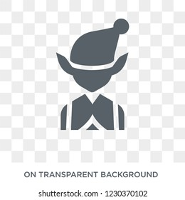 Elf icon. Trendy flat vector Elf icon on transparent background from Fairy Tale collection.