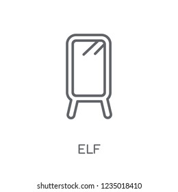 Elf linear icon. Modern outline Elf logo concept on white background from Fairy Tale collection. Suitable for use on web apps, mobile apps and print media.