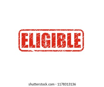 Eligible red stamp