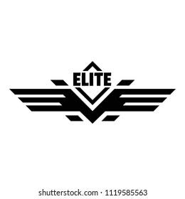 Elite force army logo. Simple illustration of elite force army vector logo for web design isolated on white background