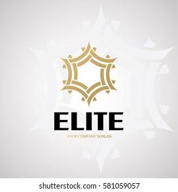 Elite Logo Design for Company. Vector Logo Template.