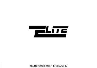 ELITE Text Typography logo vector