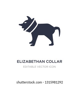 elizabethan collar icon on white background. Simple element illustration from Animals concept. elizabethan collar icon symbol design.