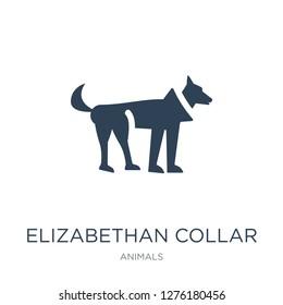 elizabethan collar icon vector on white background, elizabethan collar trendy filled icons from Animals collection, elizabethan collar vector illustration