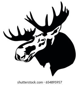 elk head, moose