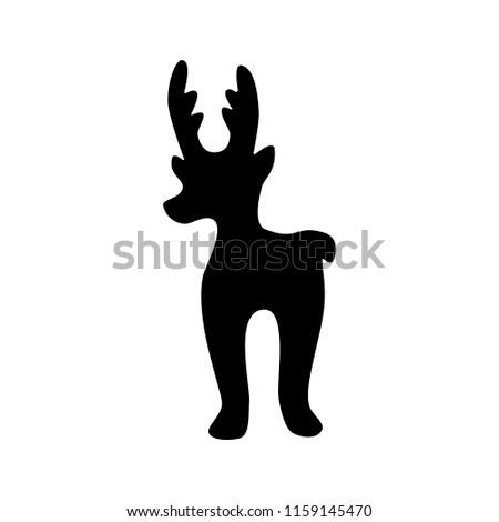 elk icon deer stencil template logo stock vector royalty free