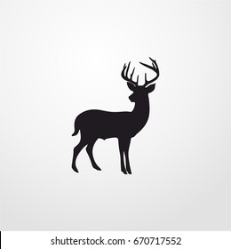 elk icon. vector sign symbol on white background