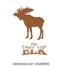the elk, logo moose design vector illustration