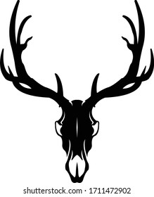 Elk Skull Logo, Great for Outdoor & Hunting logo.
