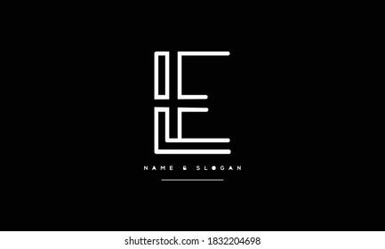 EL,LE ,E L  Abstract Letters Logo Monogram