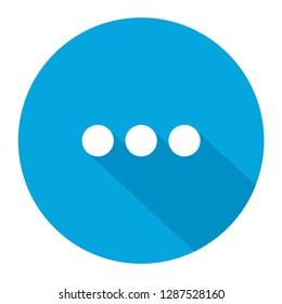 Ellipsis blue vector icon illustration