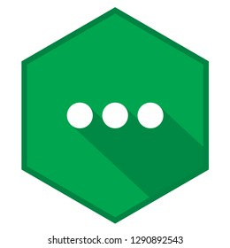 Ellipsis green vector icon illustration