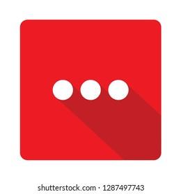 Ellipsis red vector icon illustration