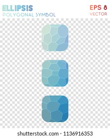 ellipsis vert polygonal symbol. alluring mosaic style symbol. unique low poly style. Modern design. ellipsis vert icon for infographics or presentation.