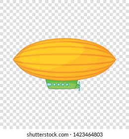 Elliptical airship icon. Cartoon illustration of elliptical airship vector icon for web