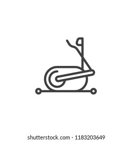 Elliptical machine gym outline icon. linear style sign for mobile concept and web design. elliptical trainer simple line vector icon. Symbol, logo illustration. Pixel perfect vector graphics
