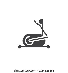 Elliptical machine gym vector icon. filled flat sign for mobile concept and web design. elliptical trainer simple solid icon. Symbol, logo illustration. Pixel perfect vector graphics
